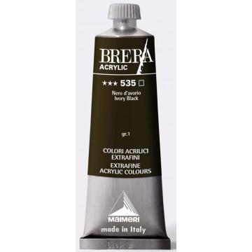 BRERA Acrylverf 60ml Serie 1 Ivoorzwart