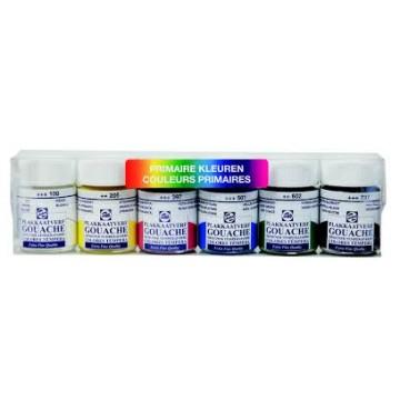 TALENS Plakkaatset Plastic Primaire Kleuren 6x16ml