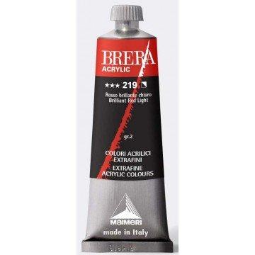 BRERA Acrylverf Briljant Rood Licht 60ml Serie 2
