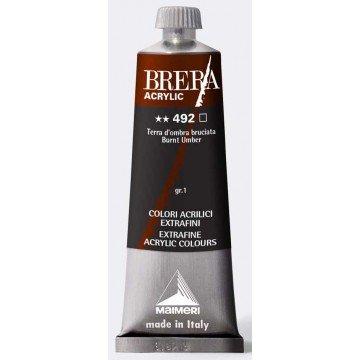 BRERA Acrylverf 60ml Serie 1 Gebrande Omber