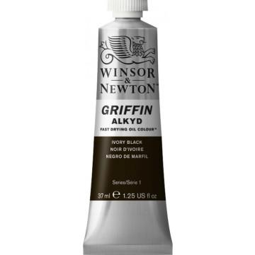 W&N GRIFFIN Alkydverf 37ml  Ivoor Zwart