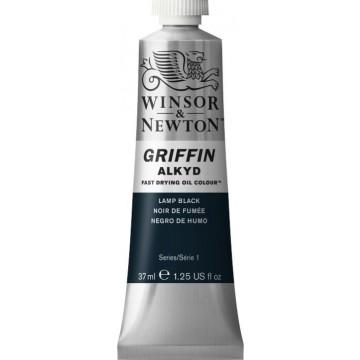 W&N GRIFFIN Alkydverf 37ml  Lamp Zwart