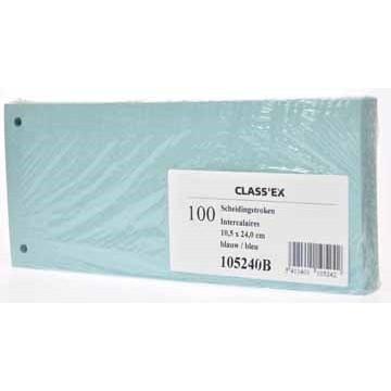 CLASSEX Pak 100 Scheidingsstroken Blauw