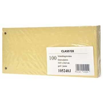 CLASSEX Pak 100 Scheidingsstroken Geel