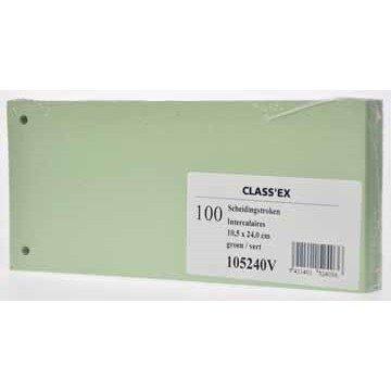 CLASSEX Pak 100 Scheidingsstroken Groen
