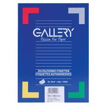 GALLERY Doos 100 vel A4 Etiketten 105x148,5mm