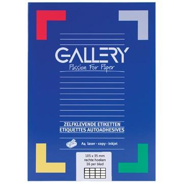 GALLERY Doos 100 vel A4 Etiketten 105x35mm