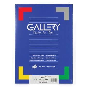 GALLERY Doos 100 vel A4 Etiketten 105x48mm