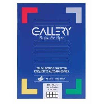 GALLERY Doos 100 vel A4 Etiketten 105x74mm
