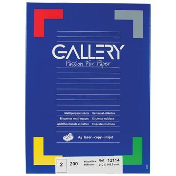 GALLERY Doos 100 vel A4 Etiketten 210x148,5mm
