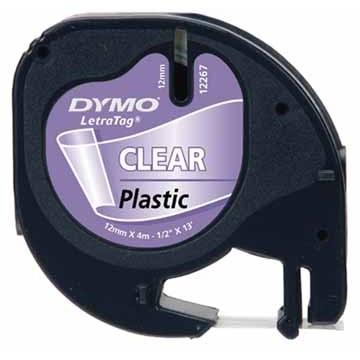 DYMO Letratag Plastiek Transparant 4m x 12mm