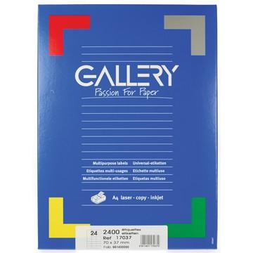 GALLERY Doos 100 vel A4 Etiketten 70x37mm
