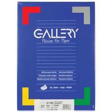 GALLERY Doos 100 vel A4 Etiketten 70x35mm