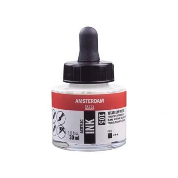 AMSTERDAM Acrylic Inkt 30ml Wit Titaan