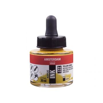 AMSTERDAM Acrylic Inkt 30ml Gele Oker