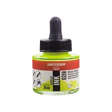 AMSTERDAM Acrylic Inkt 30ml Geel Reflex
