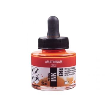 AMSTERDAM Acrylic Inkt 30ml Oranje Reflex