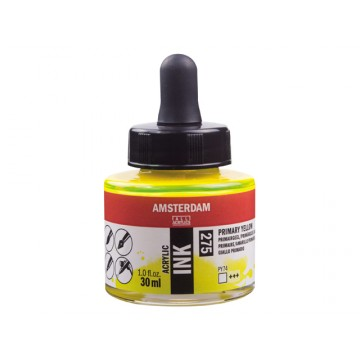 AMSTERDAM Acrylic Inkt 30ml Geel Primair