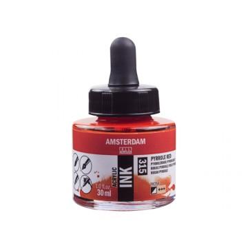 AMSTERDAM Acrylic Inkt 30ml Rood Pyrrole