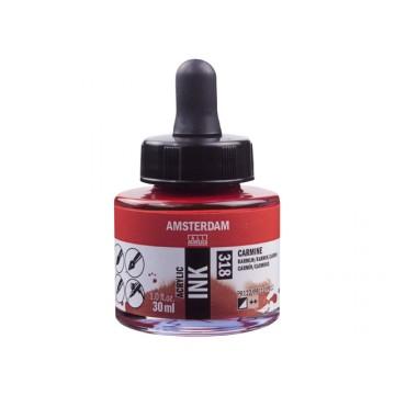 AMSTERDAM Acrylic Inkt 30ml Karmijn
