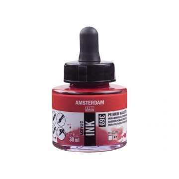 AMSTERDAM Acrylic Inkt 30ml Magenta Primair