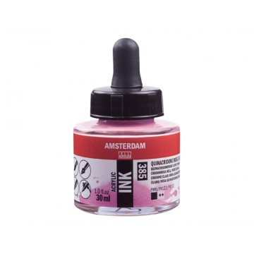 AMSTERDAM Acrylic Inkt 30ml Rose Quinacridone Lich