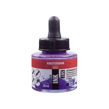 AMSTERDAM Acrylic Inkt 30ml Ultramarijn Violet