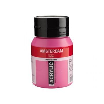 AMSTERDAM Acrylverf 500ml Roodviol Permanent Licht