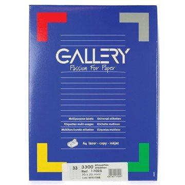 GALLERY Doos 100 vel A4 Etiketten 70x25mm