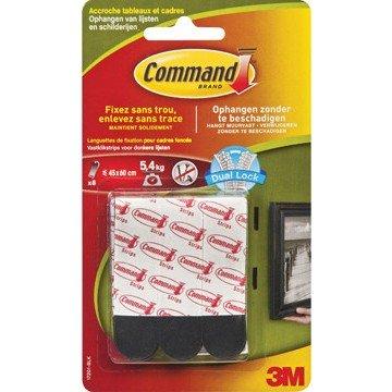 3M Command 8 Vastklikstrips Donkere Lijsten