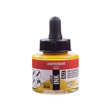 AMSTERDAM Acrylic Inkt 30ml Geel Donker AZO