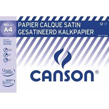 CANSON Mapje Gesatineerd Kalkpapier 90/95gr A4 12v