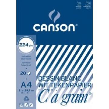 CANSON C à grain 20 vel Tekenpapier A4 224gr