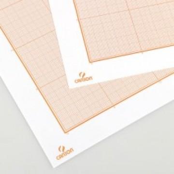 CANSON Millimeterpapier 50x65cm 100gr  Lichtbruin