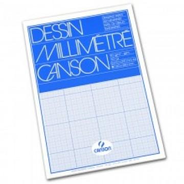 CANSON Blok Millimeterpapier A4 90gr Blauw