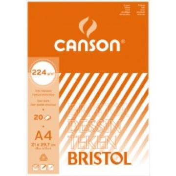 CANSON Bristol 20 vel A4  224gr  Wit