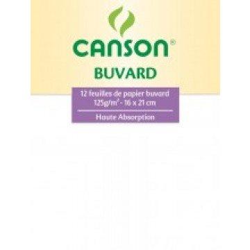 CANSON Map 12 Vloeipapier 16X21 125gr 3 Geassort.