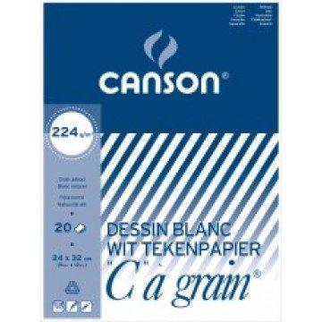 CANSON C à grain 20 vel Tekenpapier 24x32cm 224gr