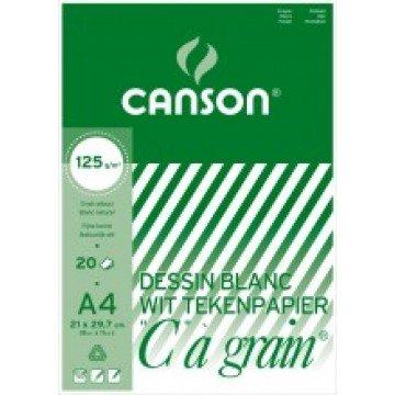 CANSON C à grain 20 vel Tekenpapier A4 125gr