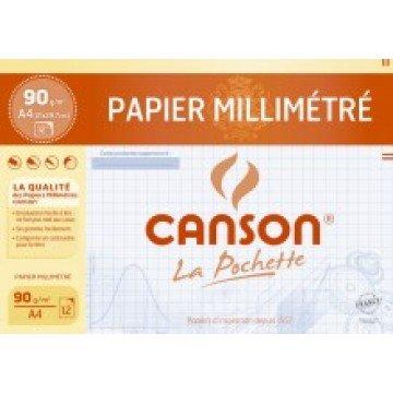 CANSON Pochet MM-papier Blauw A4 12 vel 72 gr