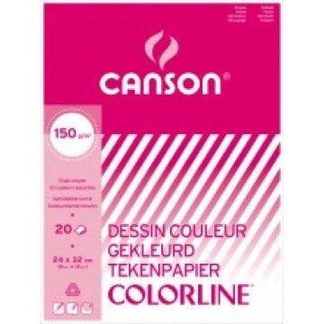 CANSON Tekenblok Geassorteerde Kleuren 150 G 24X32