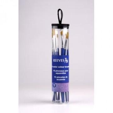 REEVES Penselenset 10st Aquarelpenselen Synthetisc