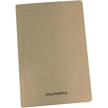 Copybook Linnen 14x22cm Geruit 192vel