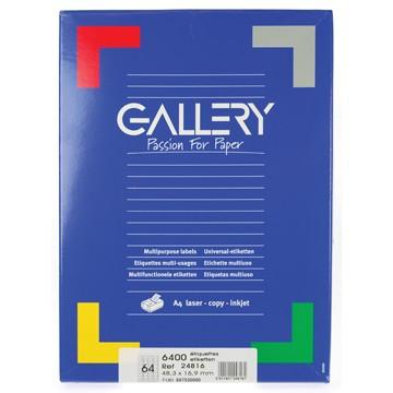 GALLERY Doos 100 vel A4 Etiketten 48,3x16,9