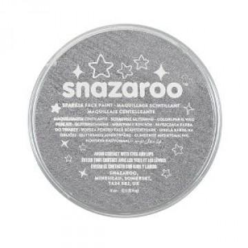 SNAZAROO Kinderschmink18ml Glitter Metaal Grijs