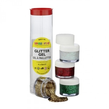 SNAZAROO Glitter Gel Tube 4x8ml