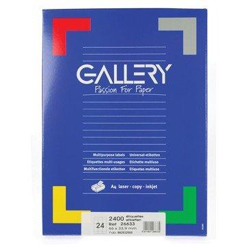GALLERY Doos 100 vel A4 Etiketten 66x33,9mm