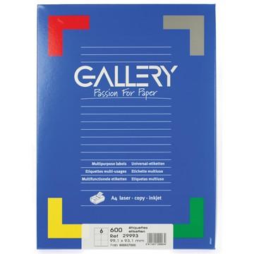 GALLERY Doos 100 vel A4 Etiketten 99,1x93,1mm