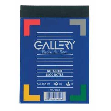 Gallery notitieblok ft 7,4 x 10,5 cm (A7), gelijnd