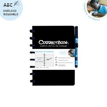 CORRECTBOOK Uitwisbaar Notablok A5 Zwart